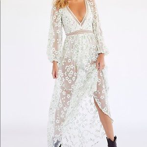 NWT For Love and Lemons Eclair Maxi Dress